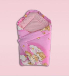 Becik niemowlęcy różowy