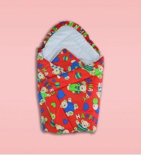 Becik niemowlęcy z poduszką czerwony