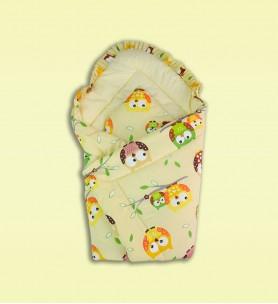 Becik niemowlęcy z poduszką kremowy