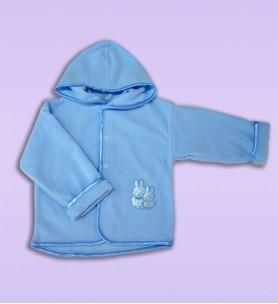 Bluza polarowa do chrztu niebieska 68 - 86 cm
