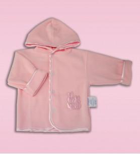 Bluza polarowa do chrztu różowa 68 - 86 cm