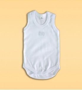 Body niemowlęce na ramiączkach białe haft
