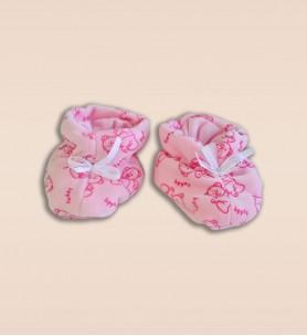 Buciki wciągane różowe w misie