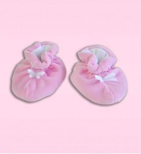 Buciki wciągane różowe