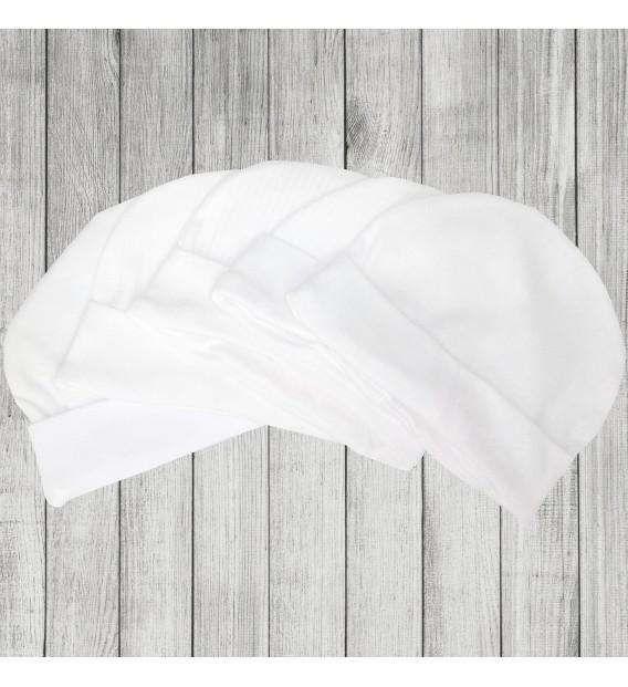 Czapka wciągana biała