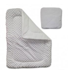 Kołdra + poduszka do wózka Minky
