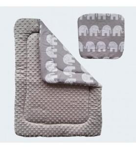 Kołdra + poduszka do wózka Minky Uniwersalny