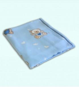 Kocyk polarowy drukowany niebieski