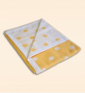 Kocyk bawełniany Miś żółty