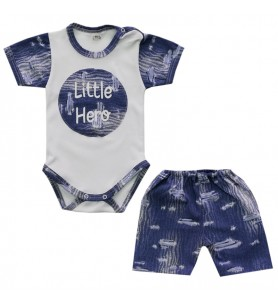 Komplet letni  62 - 86 cm Little Hero Jeans