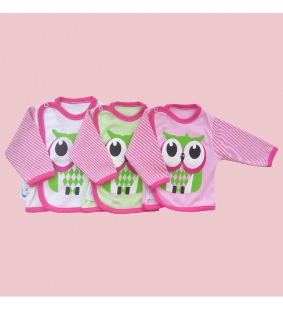 Koszulka niemowlęca  Kolekcja Sowa dziewczynka