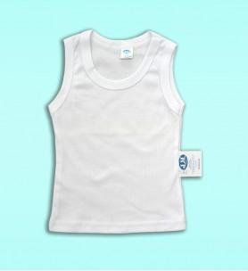 Koszulka dziecięca na ramiączkach biała