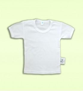 Koszulka dziecięca z krótkim rękawem biała
