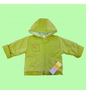 Kurtka niemowlęca sztruks zielona