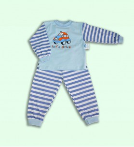 Piżamka dziecięca błękitna 110 - 122 cm