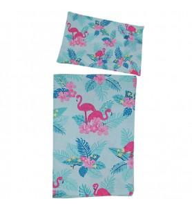 Komplet pościelowy Flamingi 135/100 cm