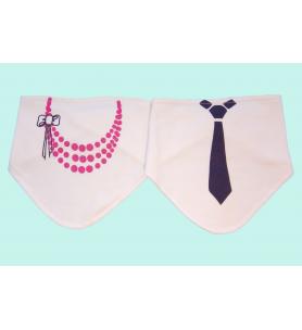 Śliniak / chustka na rzep z nadrukiem Korale/Krawat