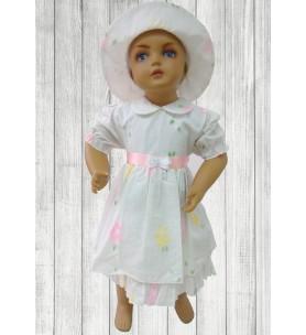 Sukienka do chrztu z kapeluszem